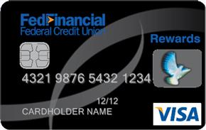 Image of Example FedFinancial Federal Credit Union Rewards Visa Card